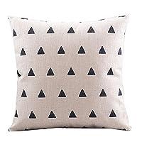 CoolDream Cotton Linen Decorative Pillowcase Throw Pillow Cushion Cover Squar...