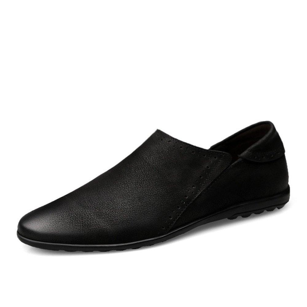 Yajie-shoes, 2018 Mocasines Zapatos para Hombre Conducción de los Hombres Penny Loafers Punta Redonda Slip-on Casual Mocasines Suela Plana Suave (Color : Negro, tamaño : 40 EU) 40 EU|Negro