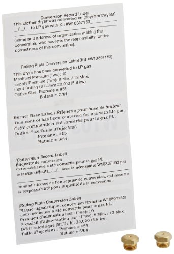 GENUINE Whirlpool W10307153 Gas Conversion Kit