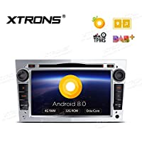 XTRONS Silver 7 Android 8.0 Octa Core 4G RAM 32G ROM HD Digital Multi-touch Screen DVR Car Stereo DVD Player Tire Pressure Monitoring Wifi OBD2 for Opel Corsa D Antara Vectra