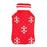 hot water bottle large germany - CTKcom Premium Fashion Healthcare Rubber Hot Water Bottle with Knitting Wool Cover (2 Liter, Red)