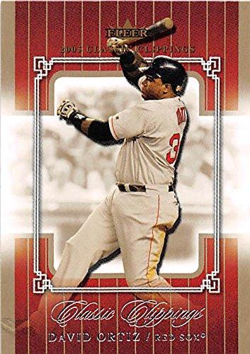 David Ortiz baseball card (Boston Red Sox Big Papi) 2005 Fleer Classic Clippings #39