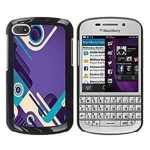 Caucho caso de Shell duro de la cubierta de accesorios de protección BY RAYDREAMMM - BlackBerry Q10 - Abstract Design Shoes Loop