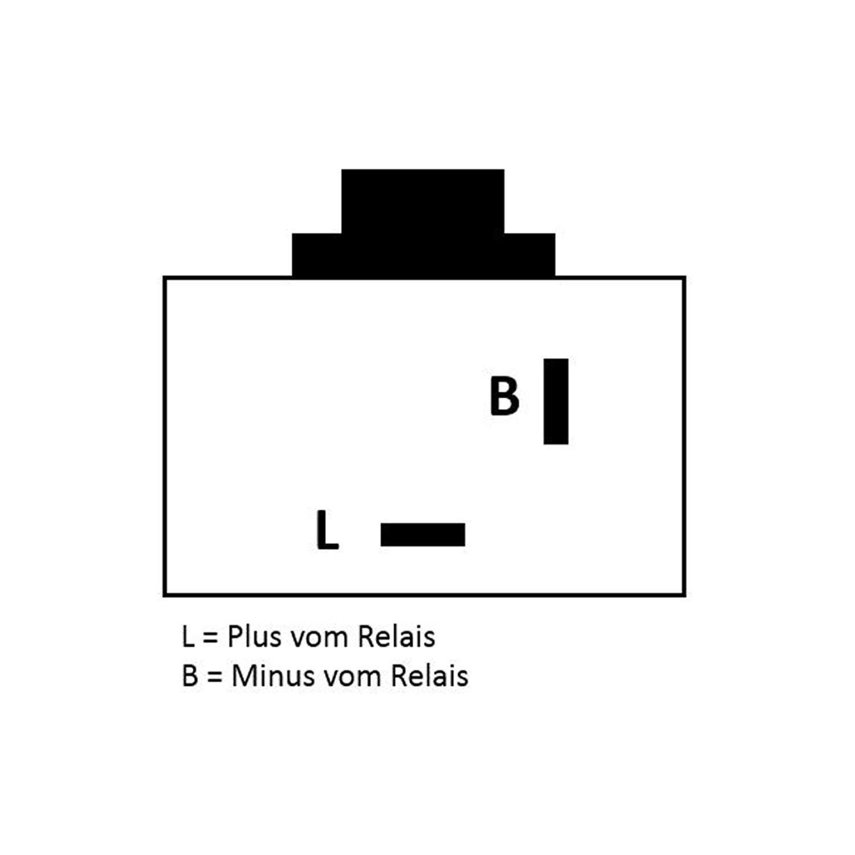 12 V per frecce a LED. Rel/è universale per frecce per moto e scooter digitale a 2 poli