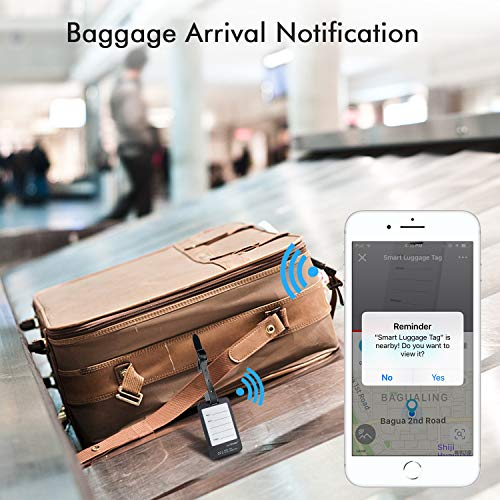 Luggage Tracker Device with App, Bluetooth Trackers Tag for Suitcase Baggage - Anti-Lost Smart Wireless Locator Tags Item Finder with Alarm (2-Pack)