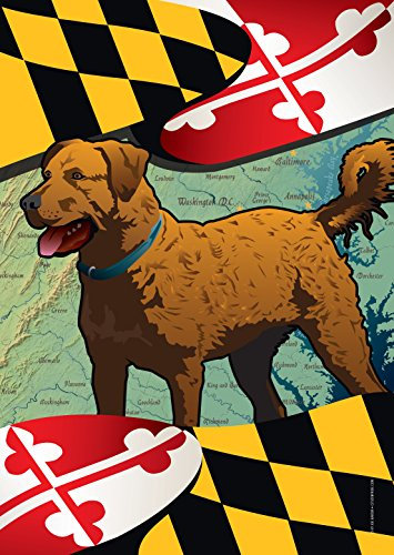Citizen Pride Maryland Chessie Large House Flag by Joe Barsin, 28x40