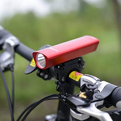 HugeAuto - Linterna frontal de aluminio negro para bicicleta de ...