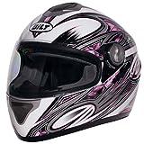 BILT Women's Cyclone Full-Face Motorcycle Helmet - MD, White/Pink