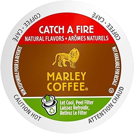 Marley Coffee Catch A Fire Light Roast 24 Single Serve RealCups 8 4 Oz