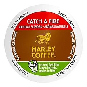 Marley Coffee, Catch A Fire, Light Roast, 24 Single Serve RealCups, 8.4 oz