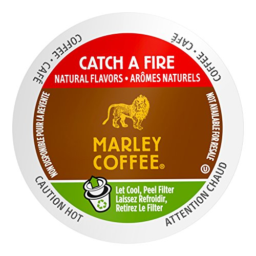 Marley Coffee Single Serve K-cup Capsules, Catch A Fire, Light Roast, Keurig Brewer Compatible, 24 Count