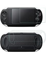Screen Protectors for Sony Playstation Vita 1000 with Back Covers, AFUNTA 2 Pack (4 Pcs) Tempered Glass for Front Screen and HD Clear PET Film for The Back, PS Vita PSV 1000 Film Accessory