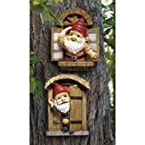 Design Toscano The Knothole Gnomes Garden Welcome Tree Sculpture