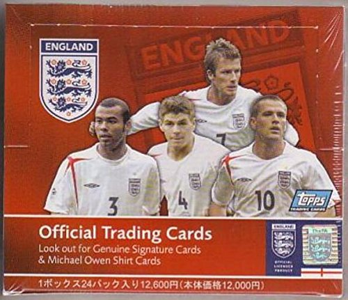 (2005 Topps England Soccer Box from Japan-averages 7-10 David Beckham Cards in every Box. Look For Autograph and Memorabilia Cards $150 !)