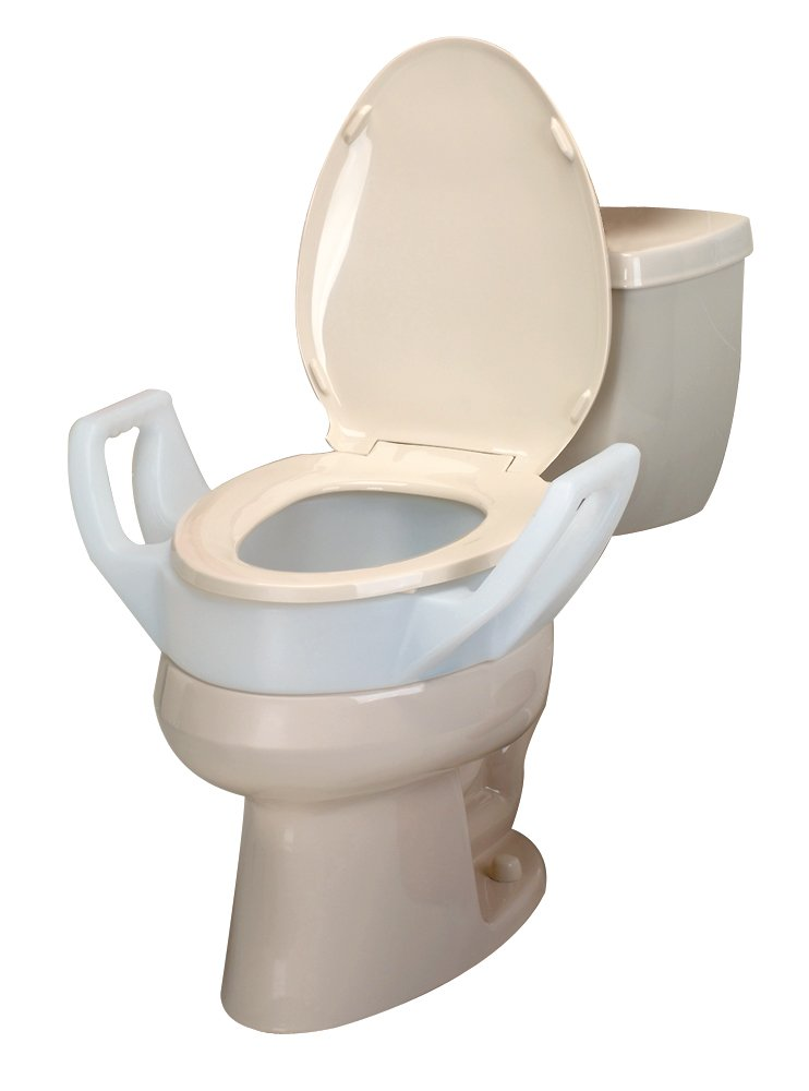 Ableware Elevated 3 1/2 Inch Toilet Seat with Arms, Elongated (725753311)
