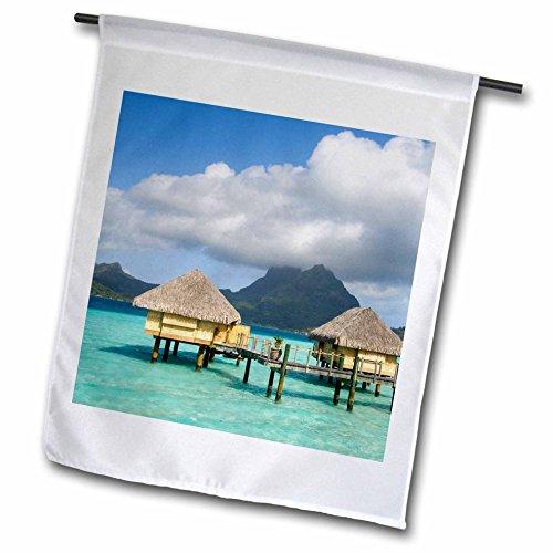 3dRose fl_85146_1 Pearl Beach Resort Bora Bora French Polynesia Oc13 Spi0022 Sergio Pitamitz Garden Flag, 12 by 18-Inch ()