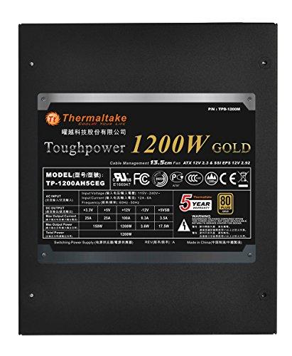 Thermaltake Toughpower 1200W 80+ Gold Semi Modular ATX 12V/EPS 12V Power Supply 5 YR Warranty PS-TPD-1200MPCGUS-1 by Thermaltake (Image #2)