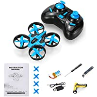 JJRC H36 RC Quadcopter Toys Mini Drone 2.4G 4CH 6 Axis Gyro Headless Mode Remote Control RTF One-key Return with 3.7V 150mAh Li-Po Battery and AA Battery - Blue