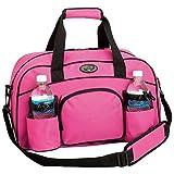 Womens Pink Tote Bag Sports Duffle Bag Workout Gym Bag Yoga Bag Carry On Luggage