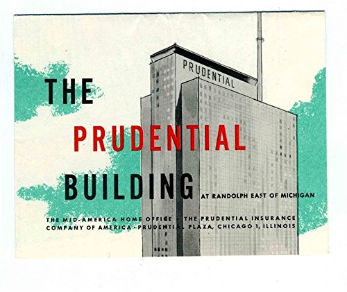 Prudential Building Observation Deck Brochure With Map Chicago Illinois 1950S