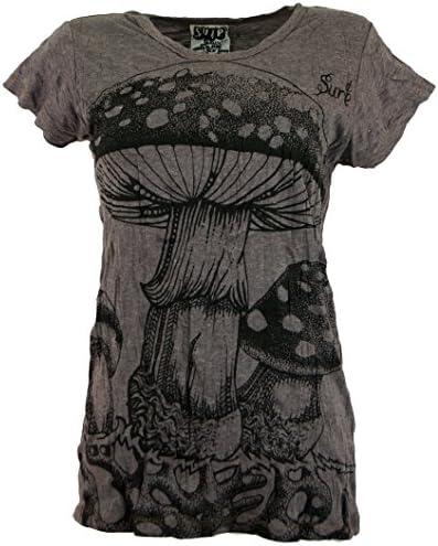 Guru-Shop Sure koszulka z motywem muchomorÓw, damska, bawełna, koszula z nadrukiem alternatywa odzież: Odzież
