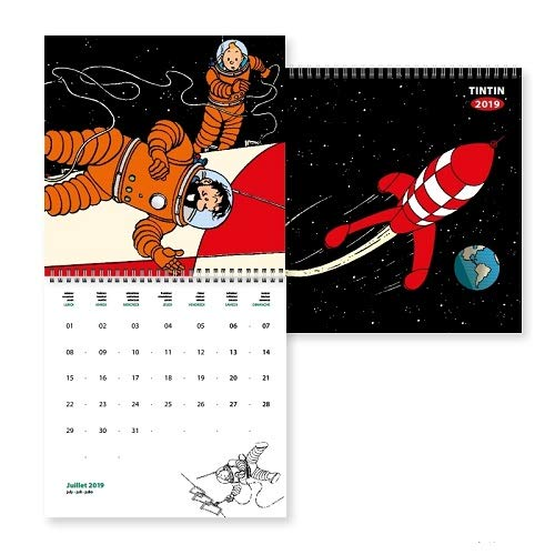 Moulinsart 2019 Wall Calendar Tintin Explorers on the Moon 30x30cm - Tintin Calendar