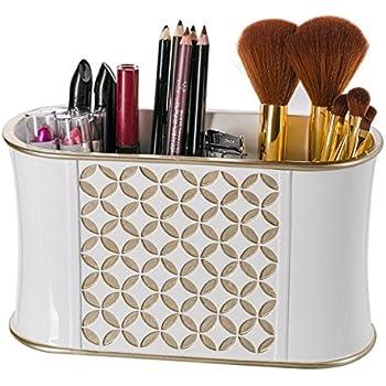 Amazon Com Makeup Brush Holder Diamond Lattice Bathroom