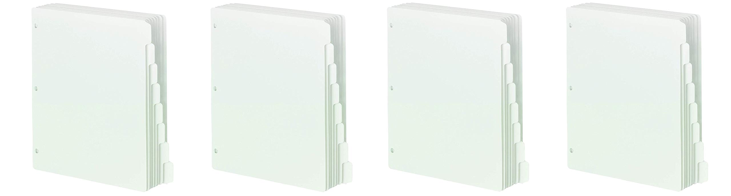 Smead Three-Ring Binder Index Dividers, 1/8-Cut Tab, Letter Size, White, (89418) (4 X Pack of 96)