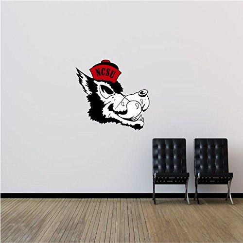 NCSU Wolfpack NCAA USA Logo College Sport Art Wall Decor Sticker Head 22'' x 21''
