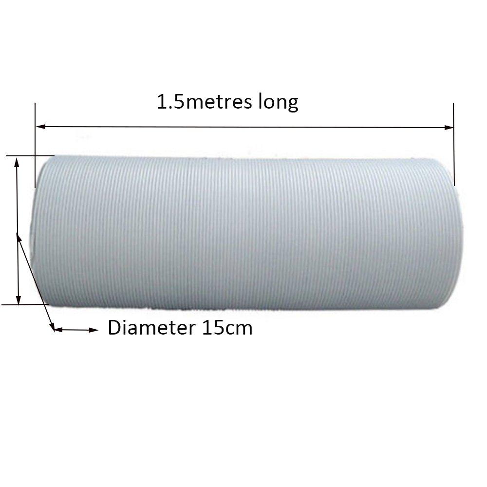 in PVC flessibile diametro13cm o 15cm per impianti di climatizzazione,counterclockwise installation direction /Ø13cm Lenth 1.5M Yinong Tubo dell/'aria di scarico