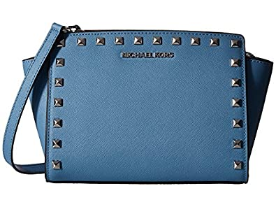 aedc04f46a39 Image Unavailable. Image not available for. Color: Michael Kors Selma Stud  Saffiano leather Medium ...