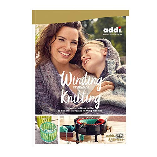 addi Express King Size Knitting Machine Extended Edition with Manual Counter Includes: 46 Needles, Knitting Machine, Pattern Book, Express Hook, Replacement Needles, Stopper and 2 Skeins Wool Yarn by addi (Image #2)