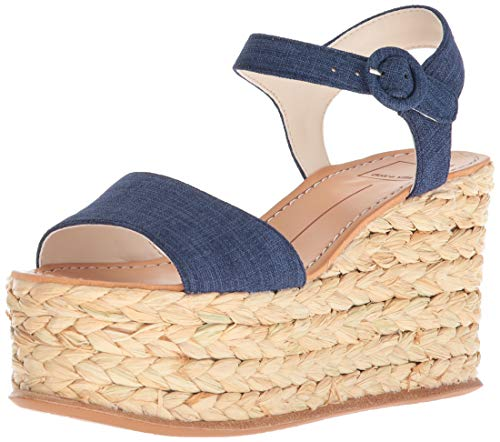 Dolce Vita Women Dane Wedge Sandal Indigo Linen