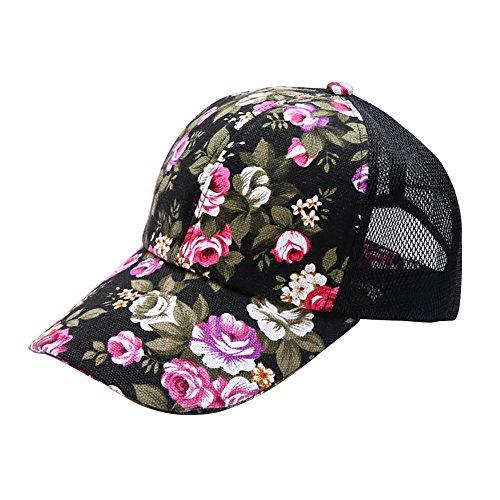 Riiya 2019 Womens Flowers Baseball Cap Lady Fashion Sun Hat for Hiking Climbing Jogging