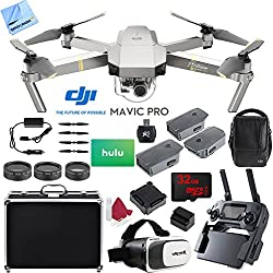DJI Mavic Pro Platinum Quadcopter, Deluxe Accessories Bundle (Pro Platinum 3 Battery Super Combo)