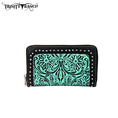 tr18-w003-montana-west-trinity-ranch-tooled-design-wallet-turquoise