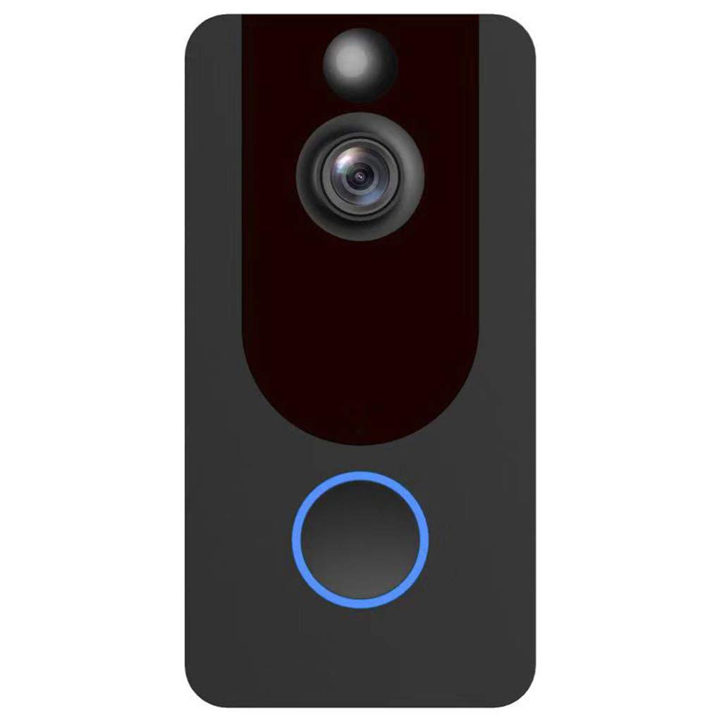 Smart Wireless WiFi Video Doorbell HD 1080P Security Camera with PIR Motion Detection Night Vision 140° Wide-Angle Lens Two-Way Talk and Real-time Video Ultra-Low Power,Remote Active Wake Up (Black) by PaJau-Electric Product