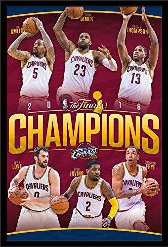 Wall Cavaliers Framed (Trends International Wall Poster 2016 Nba Finals Champions Cleveland Cavaliers, 24 x 36)