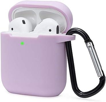 Funciona con Carga inal/ámbrica KOKOKA Funda AirPods Silicona Compatible con Apple AirPods 2 /& 1 - sin complicaciones LED Frontal Visible - Negro Extra protecci/ón