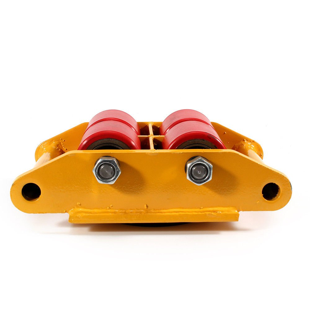 Machinery Mover,360 Degree Rotation Cap 6 Ton Capacity Industrial Dolly Machinery Skate Mover Roller Dolly with 4 Polyurethane wheels (Yellow) by NOPTEG (Image #4)