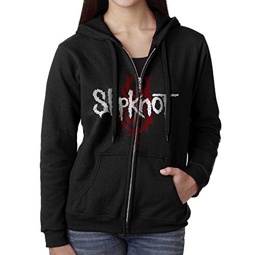 Women Slipknot Rock Band Logo Hoodie Sweatshirt (Chris Fehn Mask)