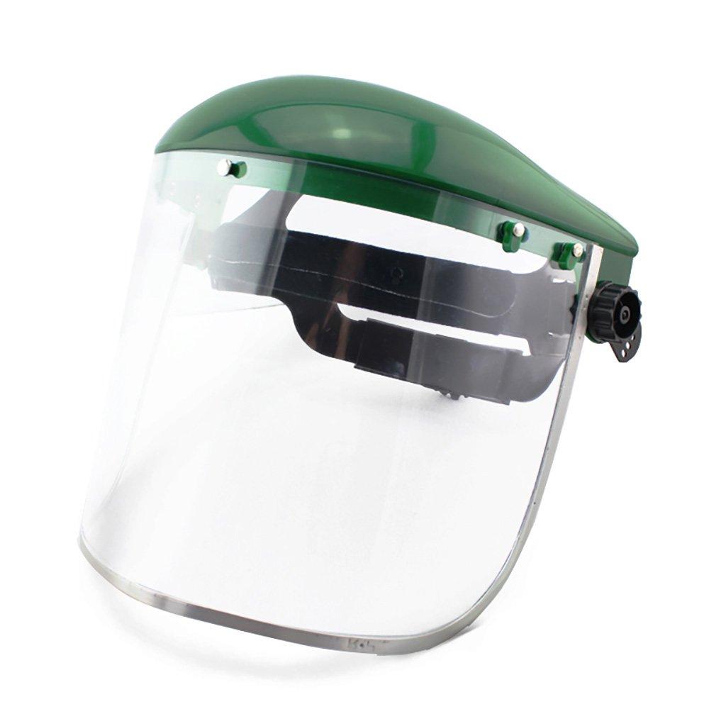 Jia Hu 1Pc Professional Face shield Clear Mask PC Material Anti-Fog Chemical Dust Splash Green