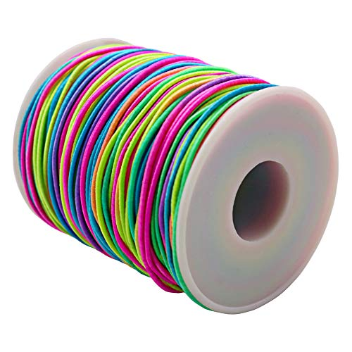 Tenn Well Elastic Beading String 1.5mm, 246 Feet Colorful Stretchy String for Necklaces, Bracelets, Jewelry Making and Crafts