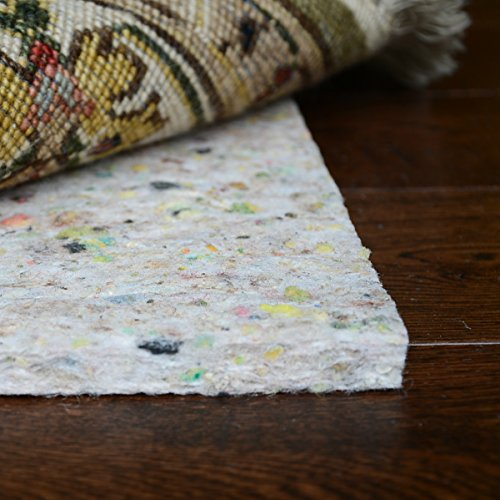 DURA-GRIP Foam Infused Felt Rug Pad, 5' W x 8' L (Wool Carpet Padding)