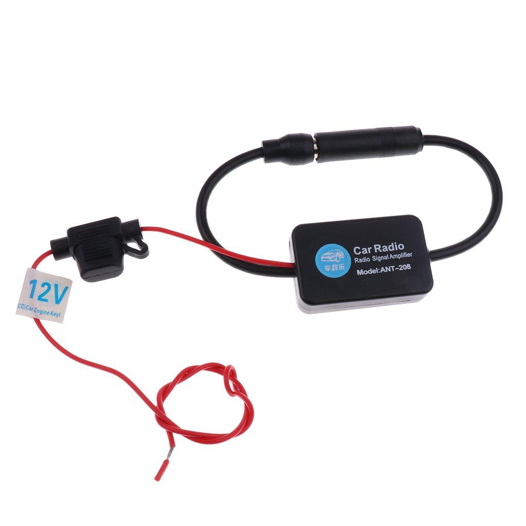 D DOLITY Inline Car Antenna Radio AM & FM Signal Amp Amplifier Booster