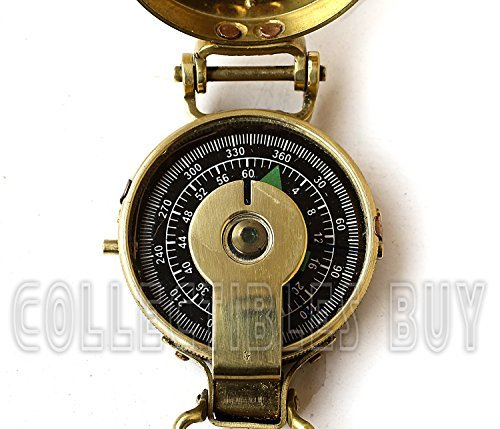 Collectibles Buy Vintage Old Style Military Compass Nautical Pocket Shiny Brass Navigational Instrument
