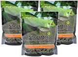(3 Pack) Galapagos Sheets of Real Moss, 8-Quart, Natural