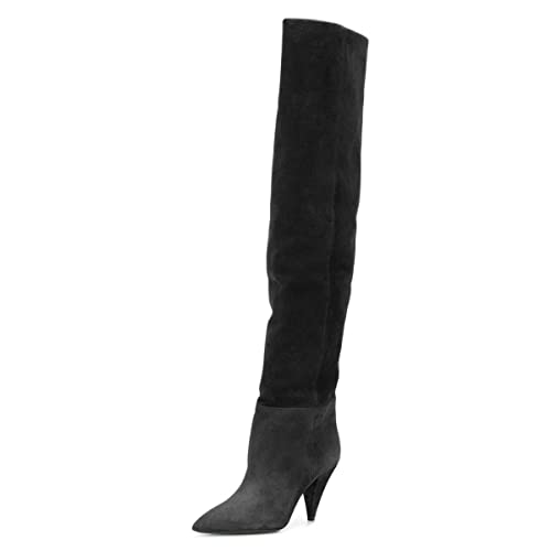 0670a761031 Amazon.com | XYD Women's Cone Heel Thigh High Over The Knee Boots ...