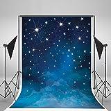5x7ft Evening Blue Sky Photography Backdrops No Wrinkles Fantasy Stars Background For Children Birthday Photo Studio