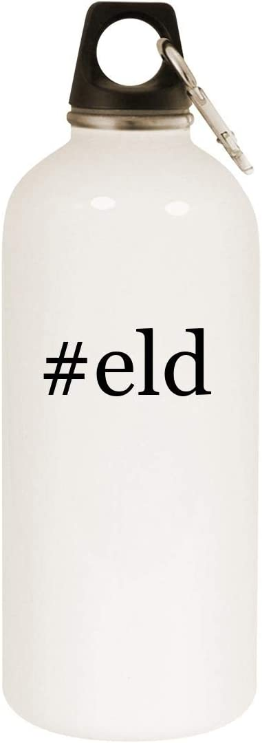 #eld - 20oz Hashtag Stainless Steel White Water Bottle with Carabiner, White 51uLlb2MeCL